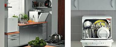 Настольные посудомоечные машины прекрасно впишутся даже в самую миниатюрную кухонную зону