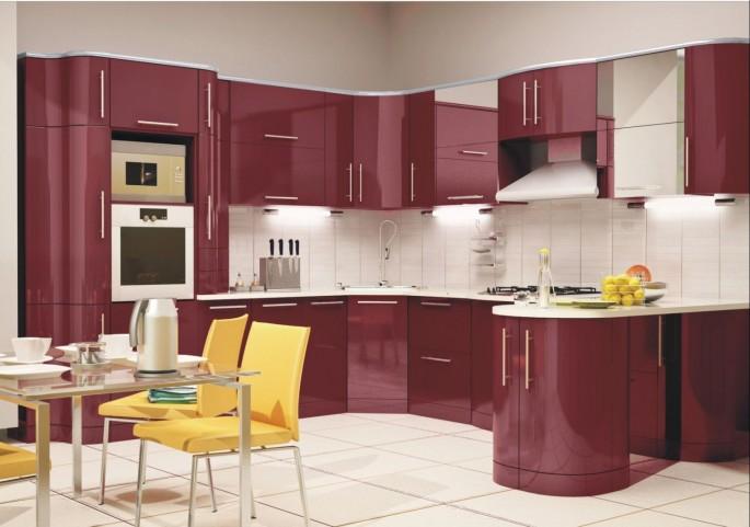 Как профессионально оформить кухню в бордовом цвете своими руками