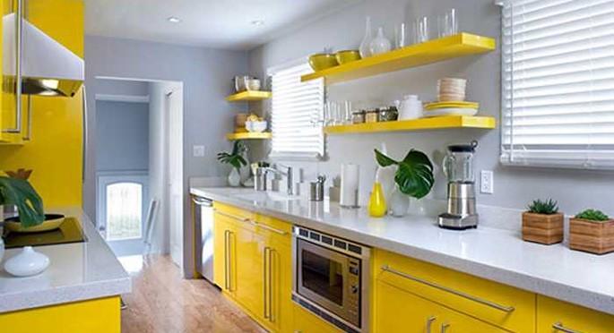 Кухня в желтом цвете: идеи для солнечного дизайна интерьера