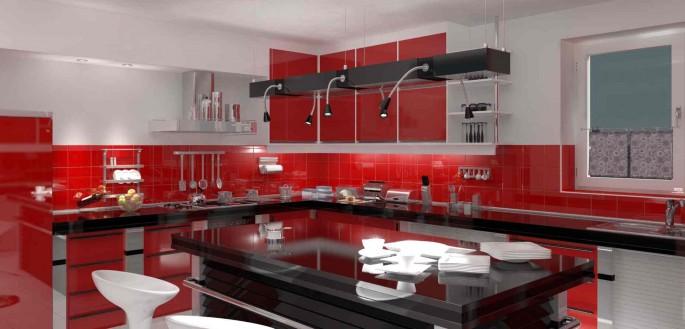 Красная кухня — яркое, стильное и современное помещение для энергичных людей