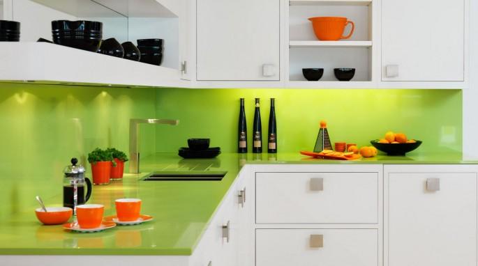 Кухня цвета лайма: вкусный и комфортный интерьер