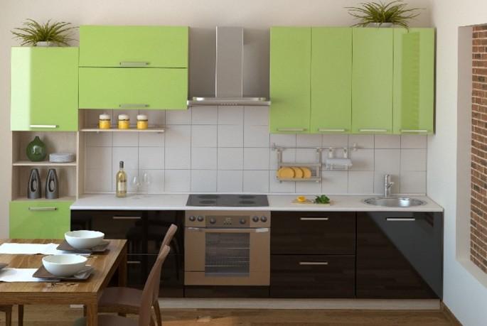 Салатовая кухня: динамичный и жизнерадостный интерьер