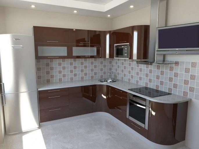 Кухня в бело-коричневой гамме: контраст и гармония в интерьере