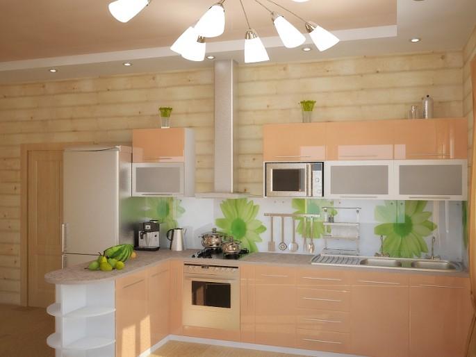 Как оформить интерьер кухни персикового цвета самостоятельно