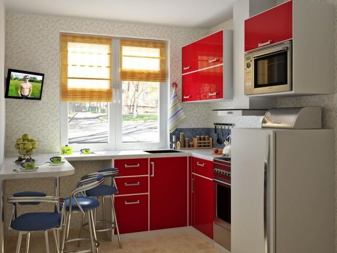 """Как грамотно создать дизайн кухни 6 кв. м в """"хрущевке"""""""
