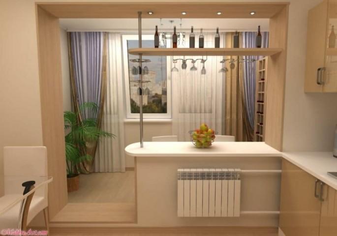 Дизайн кухни с балконом: объединение, идеи создания стильного интерьера