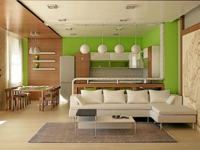 Дизайн кухни, совмещенной с гостиной: нюансы зонирования и интерьера