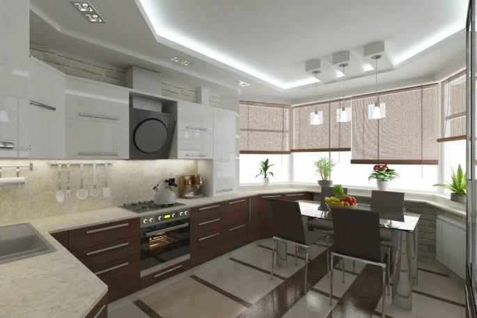Дизайн и интерьер кухни в доме п44т с эркером: как сделать кухню изюминкой квартиры