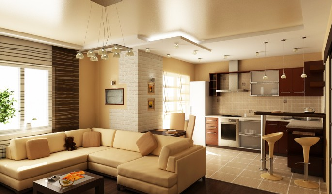 Дизайн кухни, совмещенной с залом: советы по планировке и интерьеру