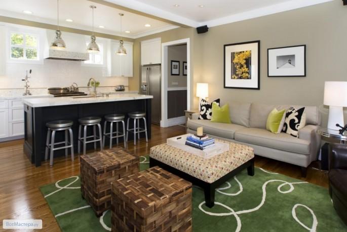 Дизайн интерьера кухни-гостиной 15кв.м: стили, цветовая гамма, варианты планировки