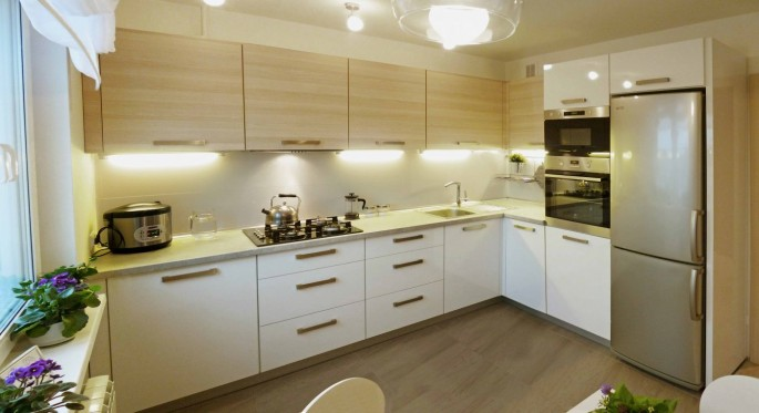 Как разместить мебель при планировке квадратной кухни