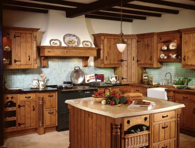 Кухня в деревенском стиле: на что обратить внимание, оформляем стены, пол и потолки