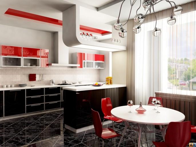 Правила оформления кухни по фен-шуй: выбираем цвет и расположение