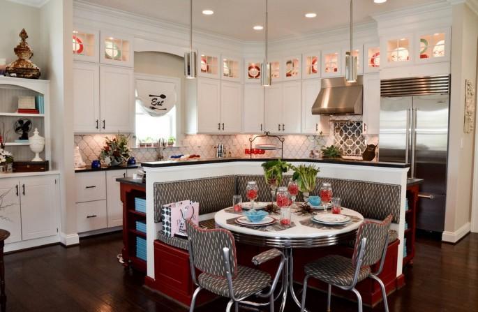 Кухня в стиле ретро (19 фото): как выглядит мебель, сантехника и техника