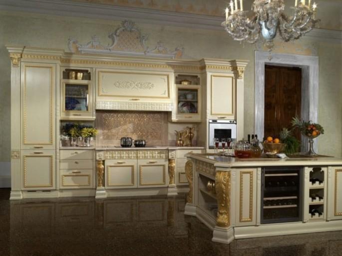 Основные нюансы кухонного оформления в итальянском стиле барокко