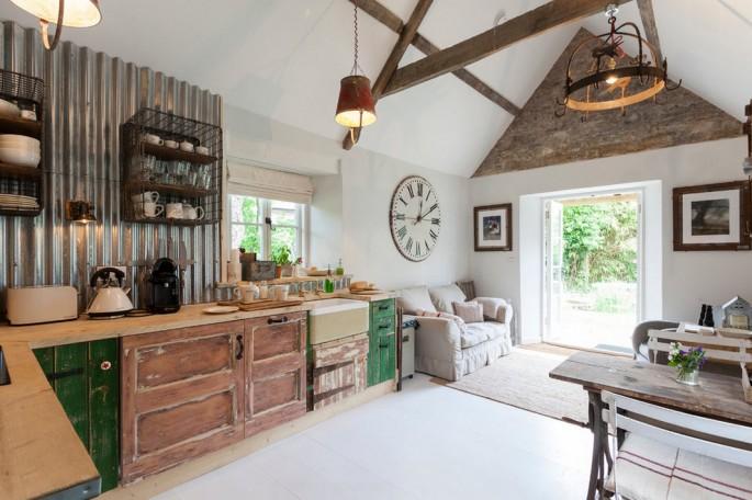 Как создать интерьер кухни в стиле шебби шик своими руками