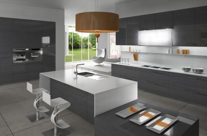 Как оформить интерьер кухни в серо-белых цветах: советы дизайнеров