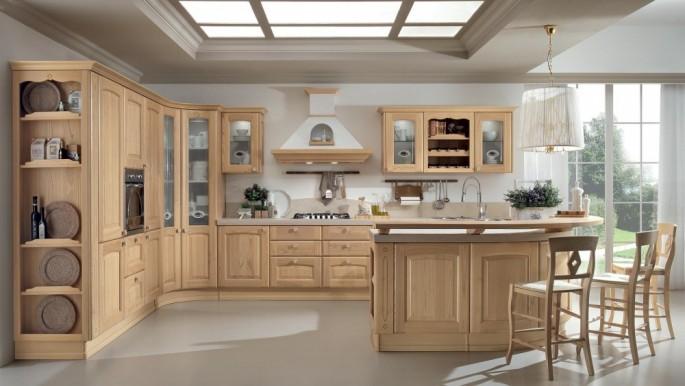 Отделка бежевой кухни: выбираем стиль, потолок и столешницу