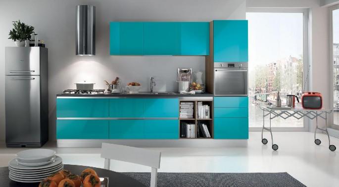 Как выполнить интерьер кухни в бирюзовых тонах: советы профессионалов