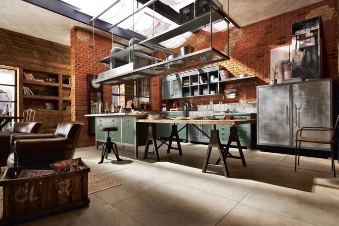 Идеи для вдохновения и воплощения кухни-гостиной в стиле Лофт