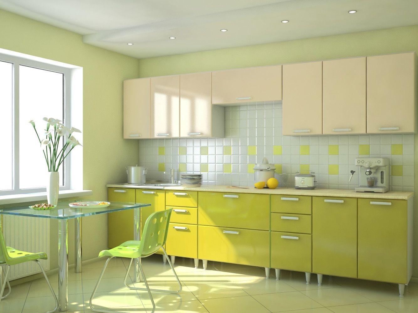Фото дизайна кухонь в фисташковом цвете