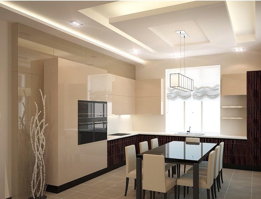 кухни ванильного цвета фото глянец
