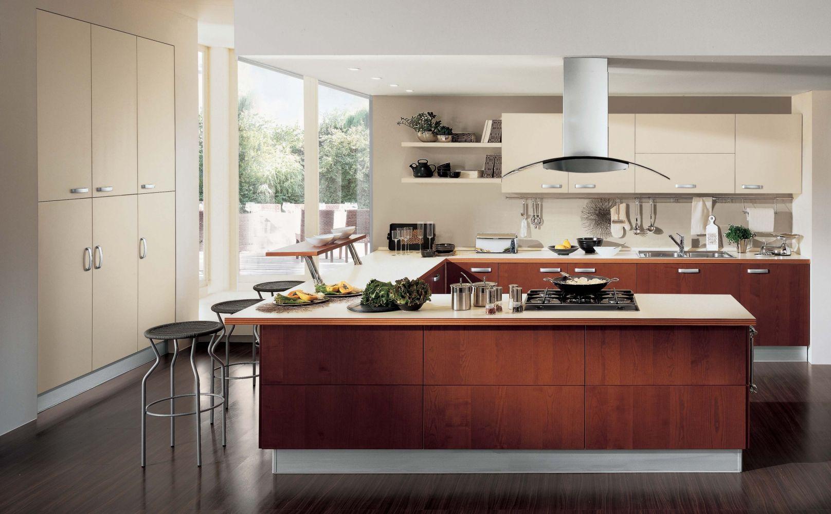 Дизайн кухни 13 кв.м в современном стиле
