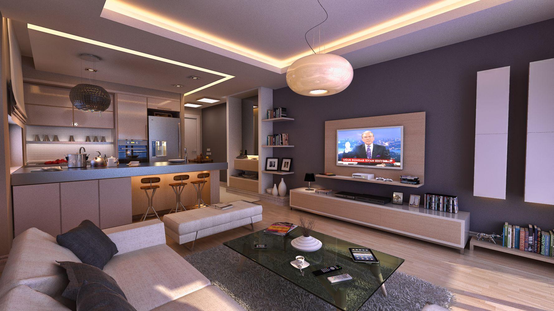 Фото дизайна телевизора в стиле хай тек