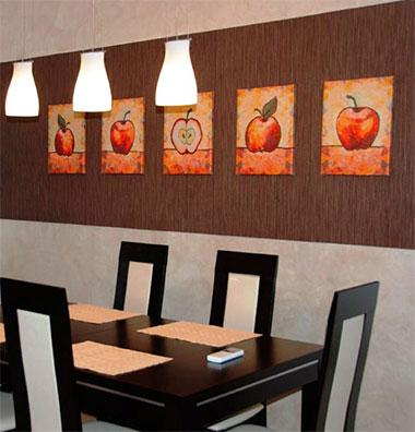 Картины с фруктами являются самым популярным типом изображений для кухни