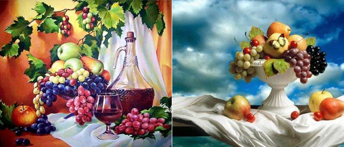 Люди с консервативными взглядами в качестве картин для кухни выбирают натюрморты
