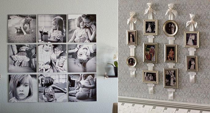 Кухонный интерьер можно дополнить семейными фотографиями