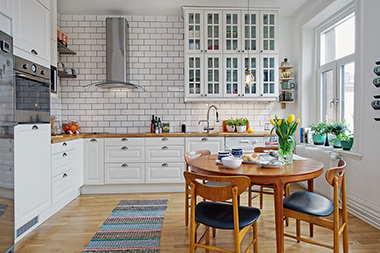 кухня в скандинавском стиле 25 фото цвет фартука отделочные