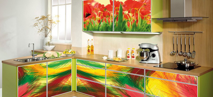 Кухонный гарнитур пленкой своими руками