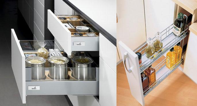 Столы с выдвижными ящиками для кухни